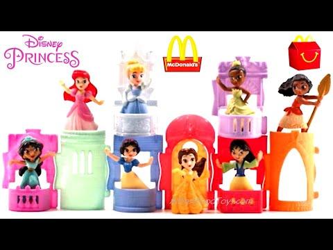 Mcdonalds 2021 Christmas Toy Line Mcdonald S Disney Princess Happy Meal Toys Play Tutorials Review Build Castle Full Set 8 April 2021 Youtube