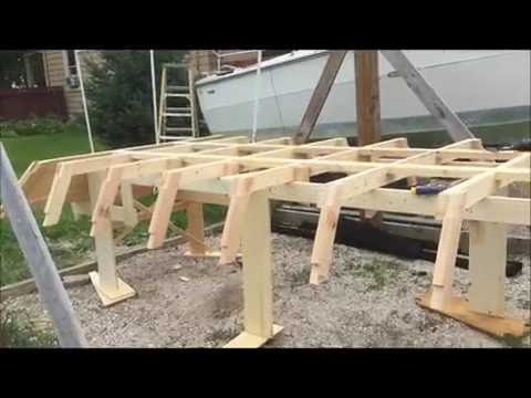 Building the Duck Barge boat - assembling the frames - 7