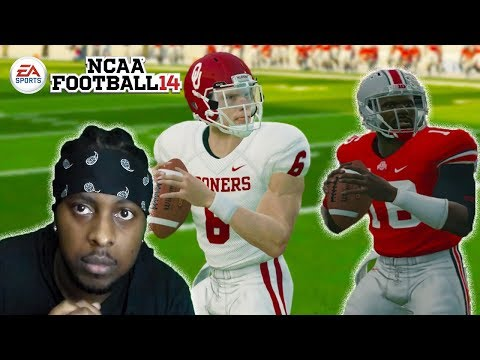 Wide Open Dropped TD Late in Game! #5 Oklahoma vs #2 Ohio State!  NCAA FOOTBALL 14 GAMEPLAY