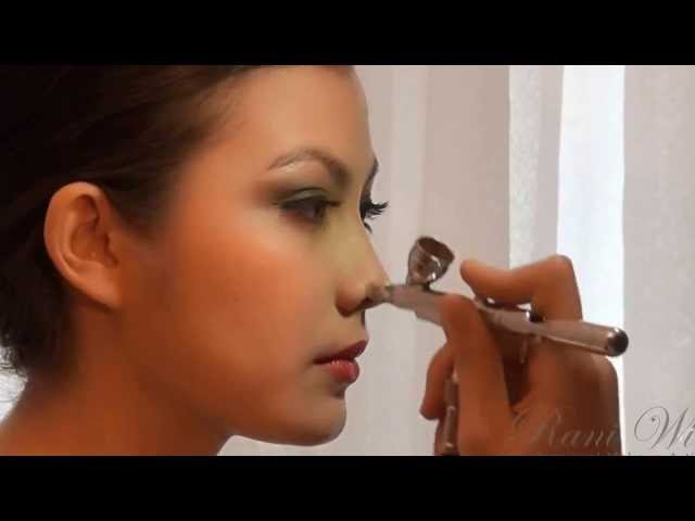 Bridal Wedding Airbrush Makeup by Rani Wi (Professional Indonesia Makeup Artist, Medan, Jakarta). Travel Video