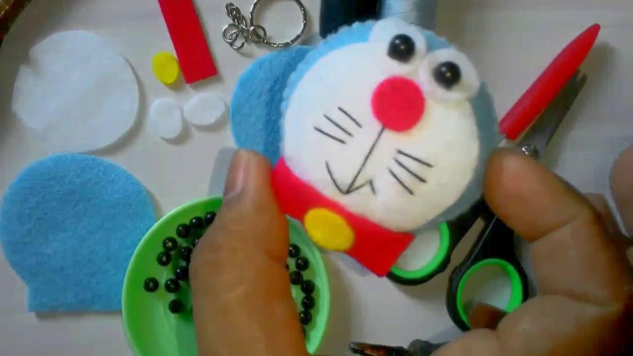 Tutorial Flanel Felt Gantungan Kunci Doraemon Ala Rangga Bastian