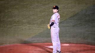 2011.09.27 横浜スタジアムでの巨人対横浜での巨人澤村投手のピッチング...