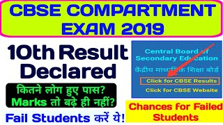 CBSE COMPARTMENT EXAM RESULT CLASS 10th || 2nd Chance For Failed Students ||