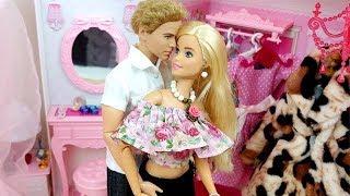 🌺BARBIE & KEN MORNING ROUTINE BEDROOM 🌺BREAKFAST DRESS UP🌺 Barbie Ken Puppe Morgenroutine