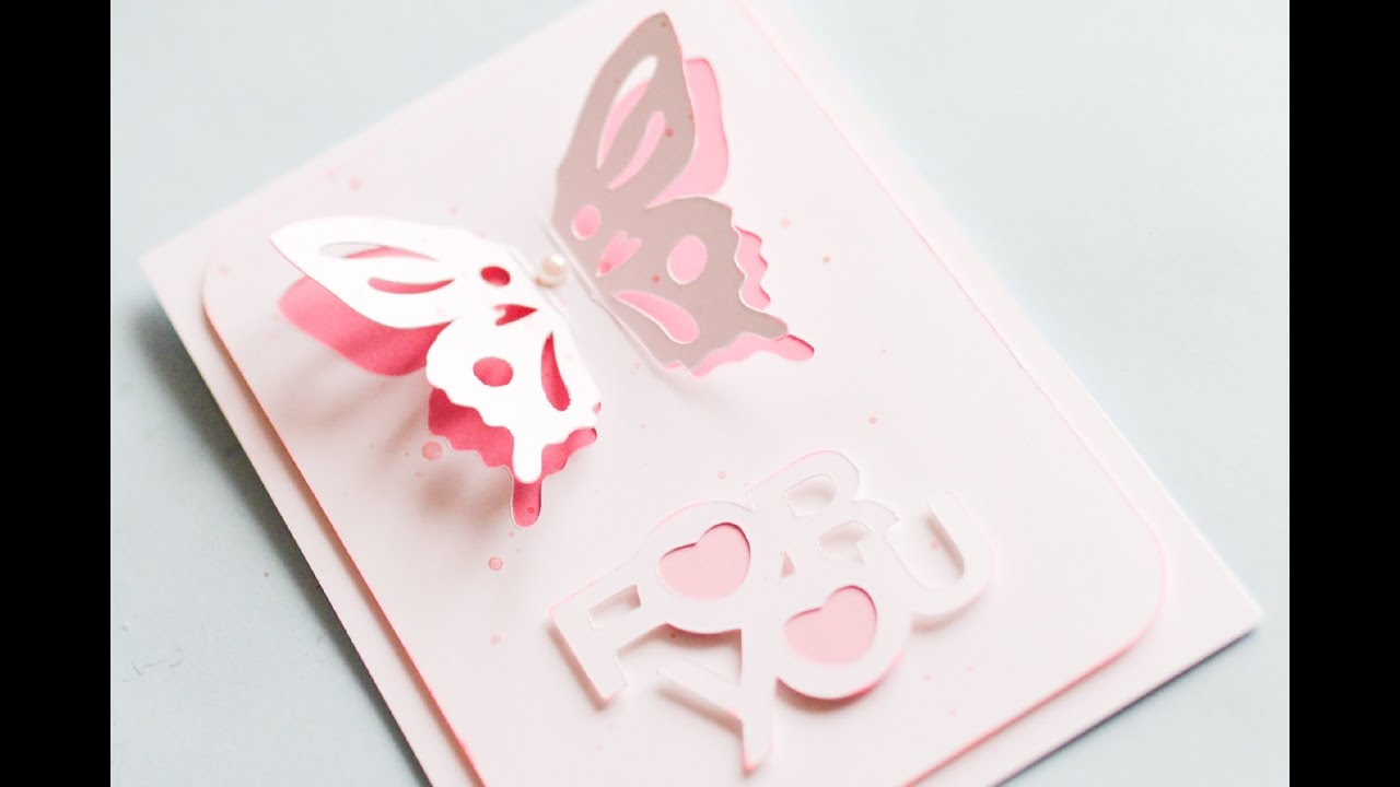 How to make greeting card with butterfly step by step kartka z how to make greeting card with butterfly step by step kartka z motylkiem youtube m4hsunfo