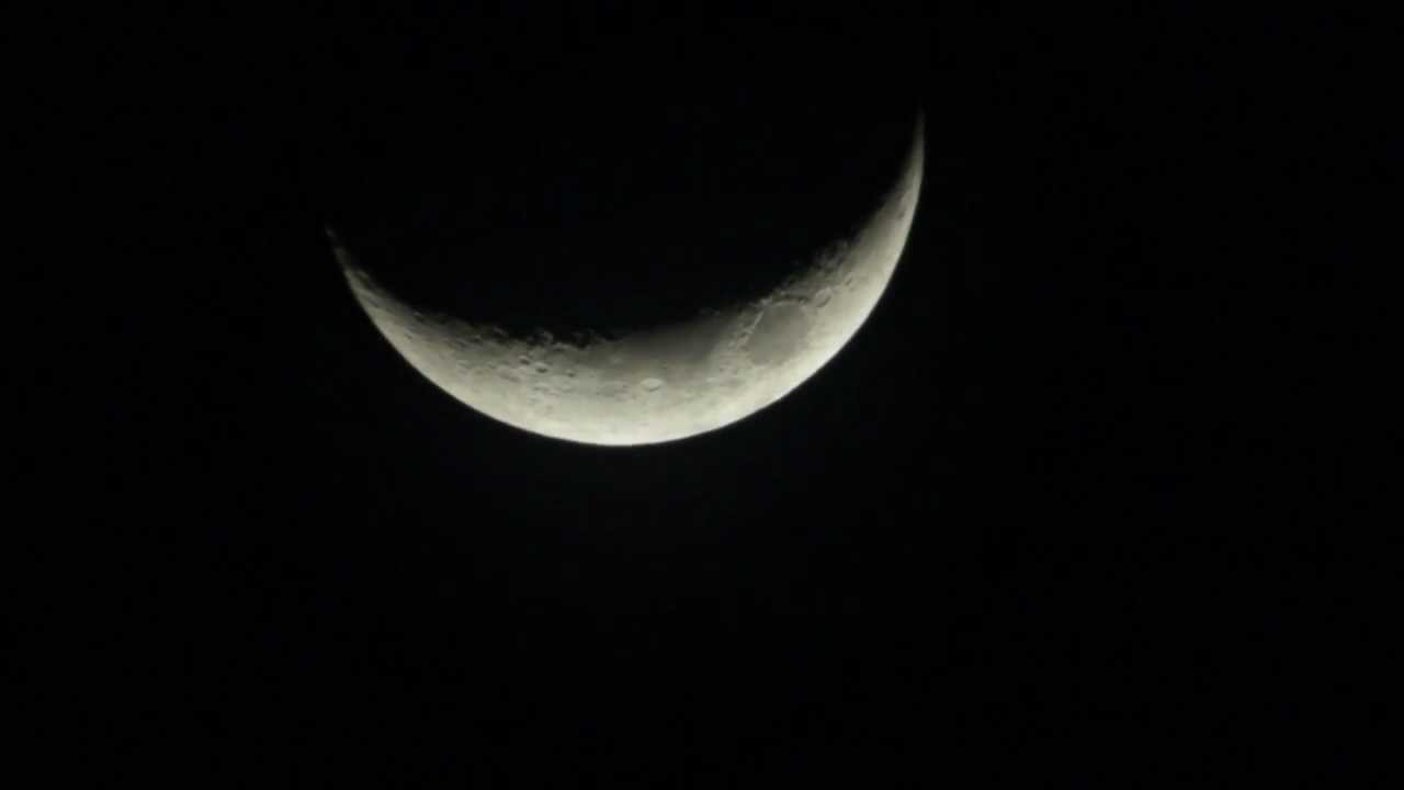 luna en cuarto creciente - YouTube