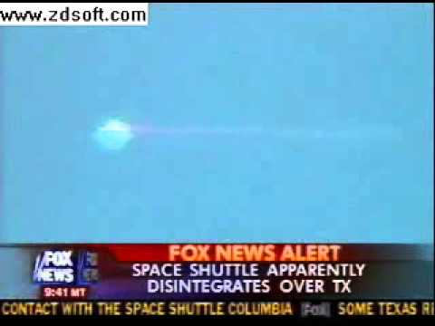 News Oops - Accidentally shows UFO when reporting on Columbia Shuttle