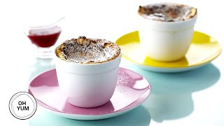 Apricot Orange Soufflés with Raspberry Coulis | Oh Yum with Anna Olson