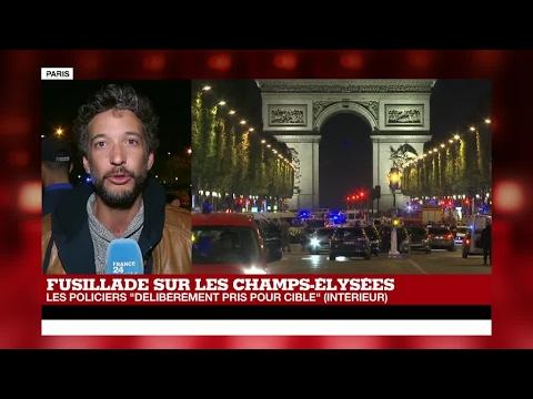 EN DIRECT : Fusillade sur les Champs-Élysées, un policier et un assaillant tués