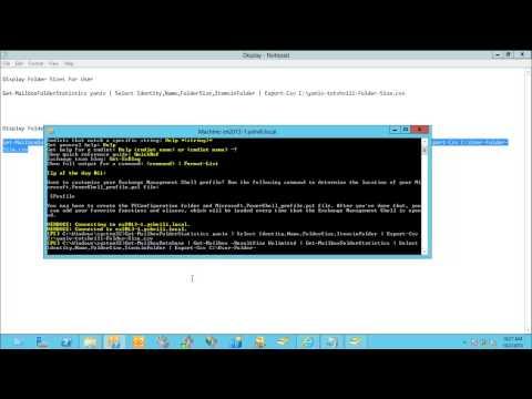 Exchange 2013 Export Users Mailbox Folder Sizes Csv