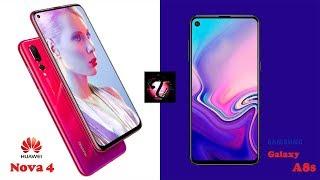 ត្រួសៗពីស្មាតហ្វូនប្រជ្រុយអេក្រង់ទាំងពីរ (Galaxy A8s និង HUAWEI Nova 4)