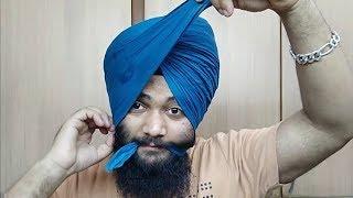 Wattan Wali Patiala Shahi Pagg   How To Tie Wattan Wali Patiala Shahi Pagg   5 Larr