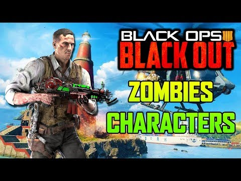 NEW ZOMBIES CHARACTERS IN BLACKOUT UNLOCKING LIVE! (Black Ops 4 Blackout)