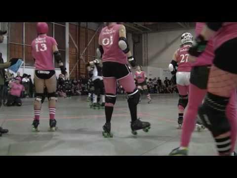 2011 Toronto Roller Derby CN Power vs Killamazoo Derby Darlins Period 1 26 Feb TORD KDD