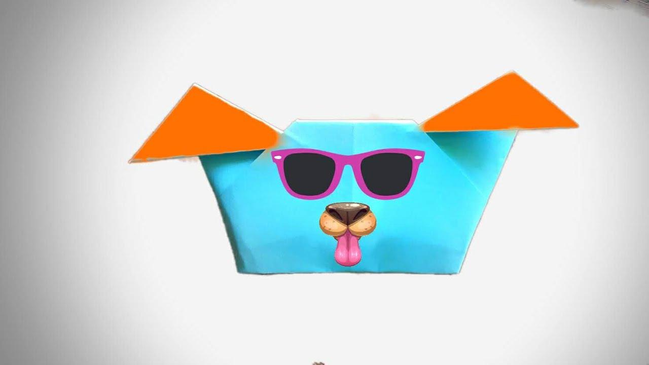 Cum să faci un cap de câine din hârtie (ca o masca din hartie pentru copii)