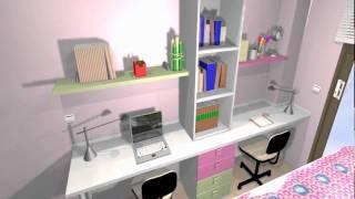 Gambar cover Dormitorio juvenil con mucho espacio de almacenamiento -ARREDO-.Mov