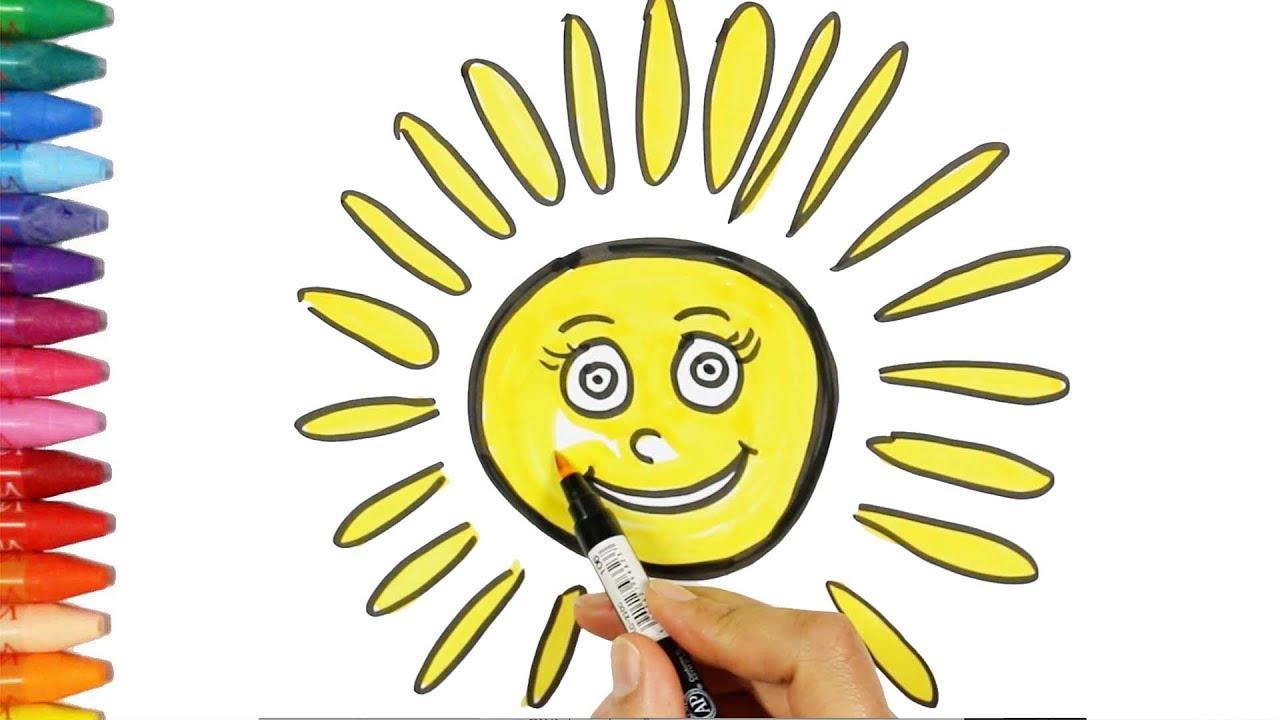 Come Disegnare Un Sole Come Disegnare E Colora Per I Bambini