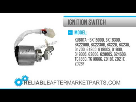 hqdefault 1446 66101 55200 new kubota ignition key switch g1700 g1800 g1900 Kubota Diesel Ignition Switch Wiring Diagram at gsmx.co