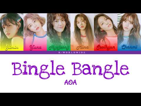 AOA - Bingle Bangle [Han|Rom|Eng] Color Coded Lyrics