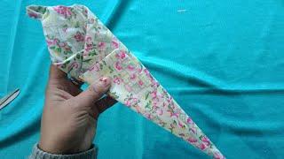 बचे हुए कपड़ों से और बुकरम से बनाए  scissor pouch