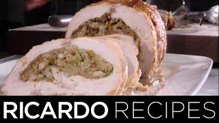 Stuffed Turkey Roast with Mushroom Sauce  Ricardo Recipes