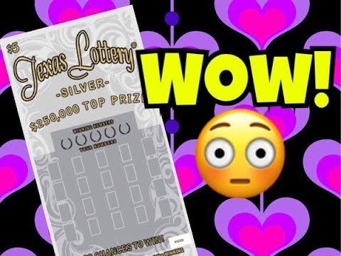 BOOM!! BIG WIN! 2 x $5 Silver Texas Lottery Scratch Off Tickets