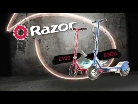 Электросамокат Razor E100, E300, E300S