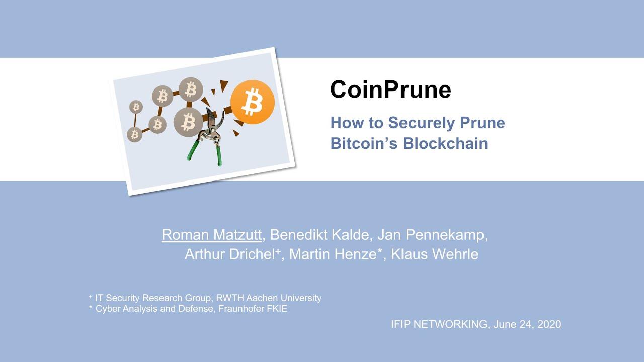 bitcoin prune