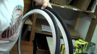 26 x 1 3/4 S-7 Whitewall Bike Tires for Vintage SCHWINN Cruisers