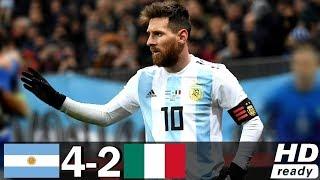 Аргентина Италия 4 2 Обзор Контрольных Матчей 28 02 2001 14 08 2013 HD