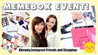 ♡ kbeauty shopping spree going to the memebox event + meeting instagram influencers!