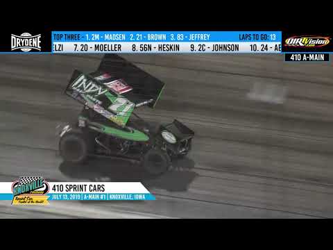 Knoxville Raceway 410 Highlights #1 - July 13, 2019