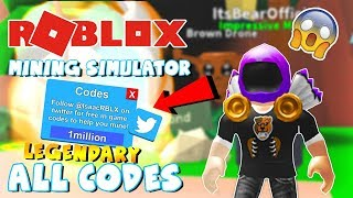 Roblox Mining Simulator CODES *ALL LEGENDARY* [38 Codes & 115.000 COINS!]