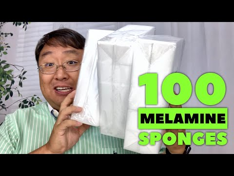 100 Pack of Melamine Sponges is Much Cheaper than Magic Erasers