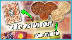 Selvitetään arvoja: 1000€ postimerkki?! 1800-luvun kolikoita! + muuta!