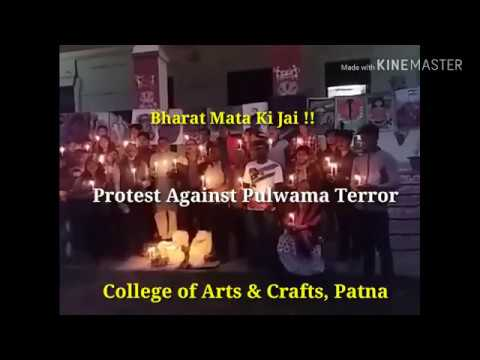 Artists of Patna paid Tributes to Pulwama Martyrs in College of Arts & Crafts,Patna
