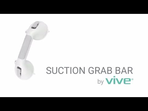 Suction Grab Bar by Vive - Suction Shower Handle & Bathroom Balance  Bar - Safety Hand Rail Support