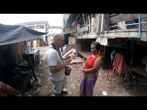 Street Photography - Visit Borei Keila slum in Phnom Penh, Cambodia.
