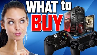 Should I Buy a PS4 or Xbox One? Or PC?(My opinion on the best gaming machines if you're in the market for a gaming system. ▻ VGN Video Game News: http://www.VideoGamesAndNews.com ..., 2015-11-26T20:02:10.000Z)