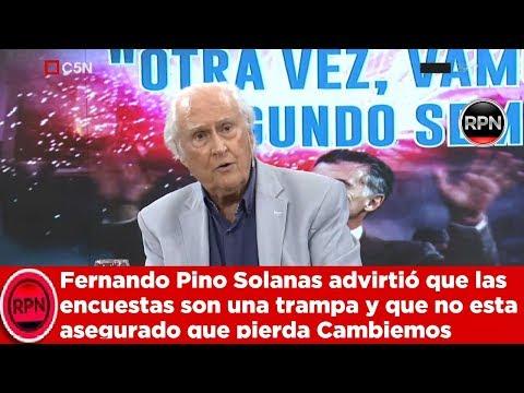 Pino Solanas advirtió que las encuestas son una trampa y  no esta asegurado que pierda Cambiemos