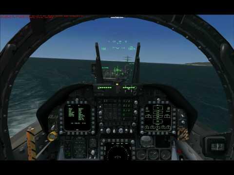 FSX Carrier Landing, Sludge Hornet w/new IFLOLS VC gauge, part 3