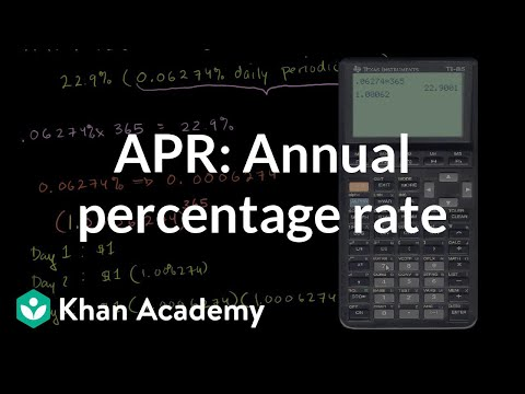 Annual Percentage Rate (APR) and effective APR | Finance & Capital Markets | Khan Academy