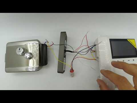 БУЗ. Схема подключения к  электромеханическому домофонному замку