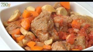 Recette de Sauté de veau à la tomate - 750 Grammes