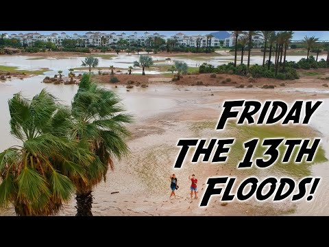 """FRIDAY THE 13TH"" FLOODS! at La Torre Golf Resort, Murcia, Spain (DJI Spark)"