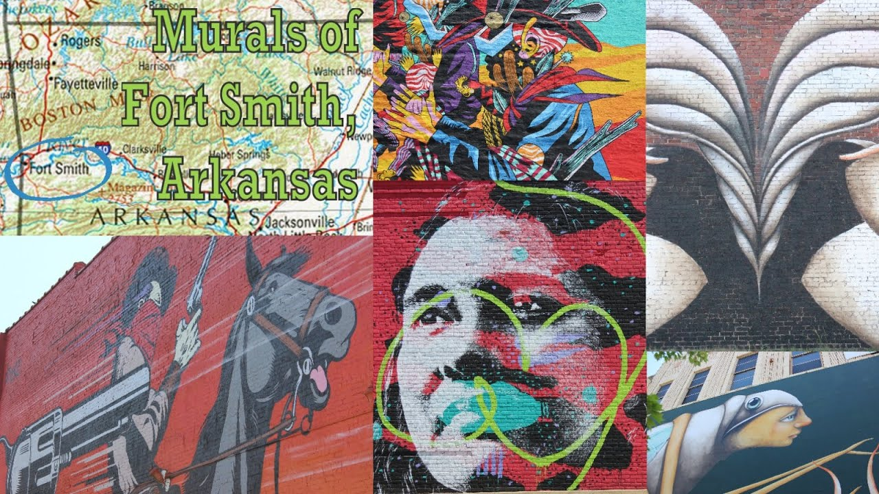 the amazing murals of fort smith arkansas youtube