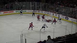Charlie Lindgren of Laval Rocket makes an amazing save vs. Marko Dano of Manitoba Moose 9/23/19
