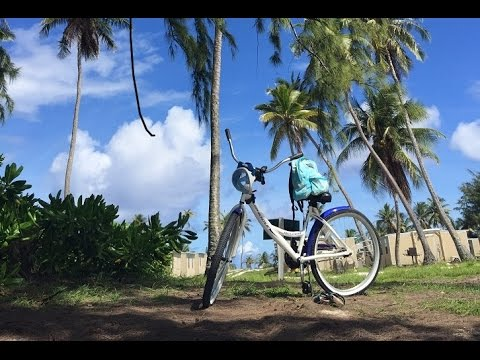 Bike Ride thru Kwajalein Atoll Marshall Islands Emon Beach on the Way to Snorkel