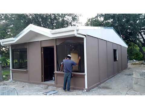 Casa Prefabricada De Baldosas Nicaragua 1 Youtube