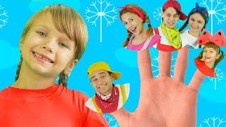 The Finger Family Song - Daddy Finger Nursery Rhymes for Kids